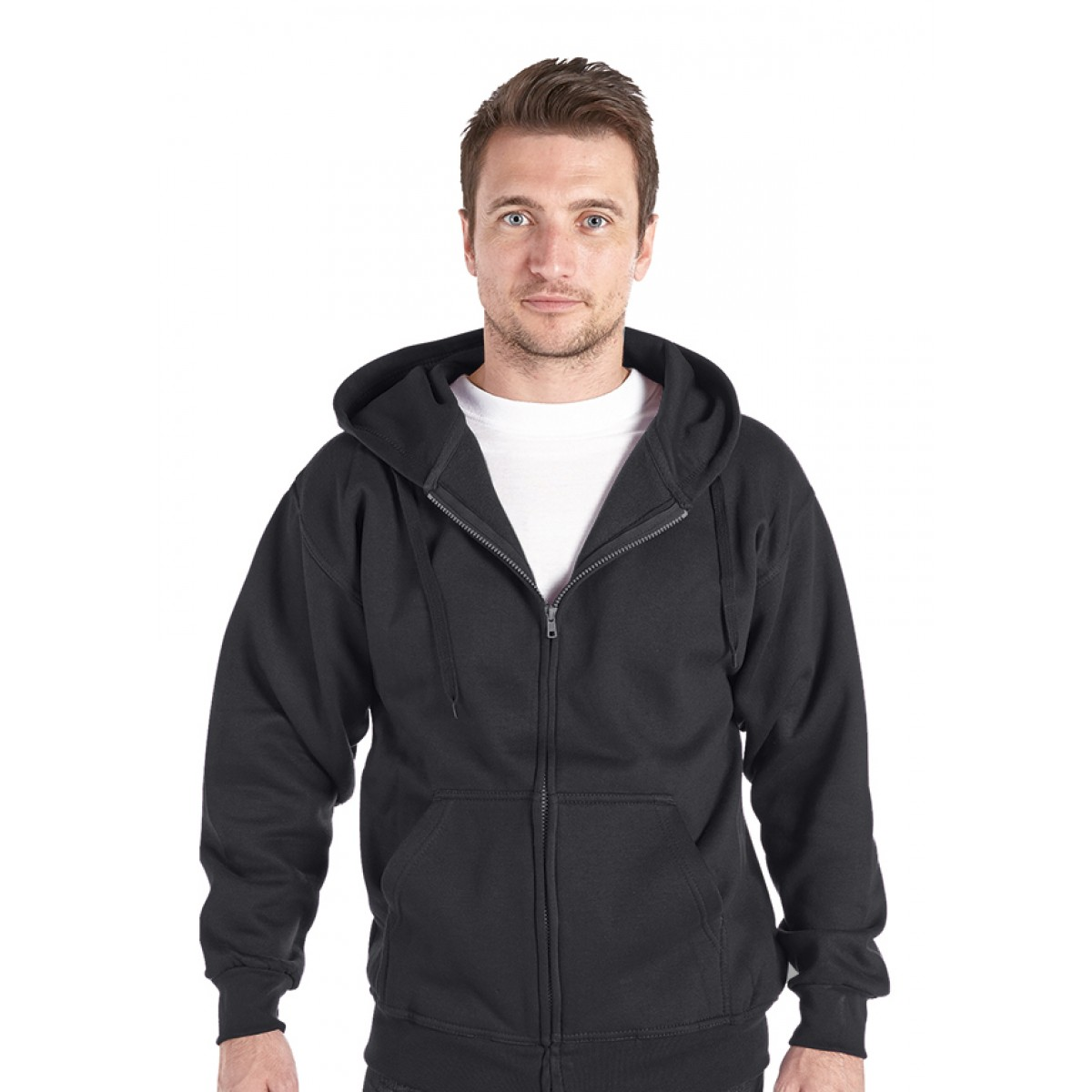 Ranks RK27 Hooded Full Zip Sweatshirt