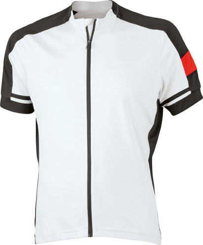 James Nicholson JN454 Unisex Bike Full Zip Cycling Shirt
