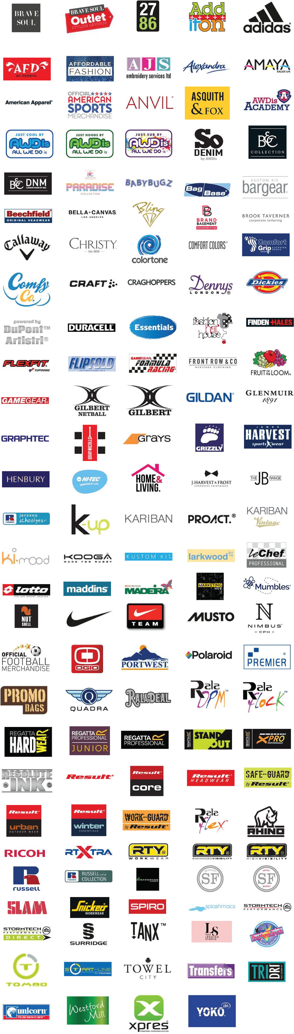 Brands that we supply and work with